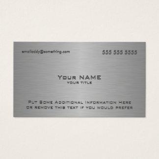 Impressão metálico moderno da textura cartão de visitas