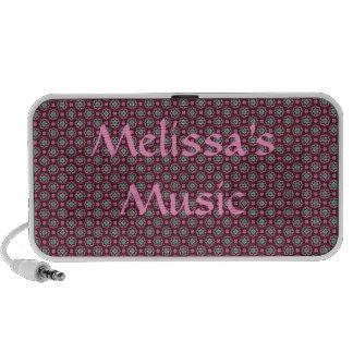 Impressão minúsculo kaleidoscopic bonito caixinha de som para iPhone