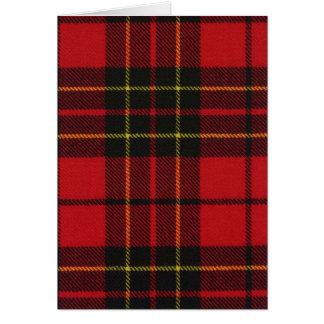 Impressão moderno vermelho do Tartan de Brodie do Cartão Comemorativo