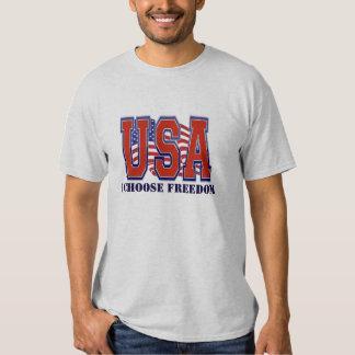 Impressão muito patriótico da bandeira dos EUA nós Camisetas