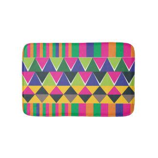 impressão multicolour asteca cor-de-rosa tapete de banheiro