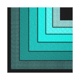 Impressão Não-Concêntrico das canvas dos quadrados