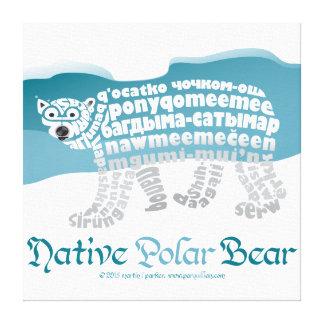 Impressão nativo das canvas do urso polar