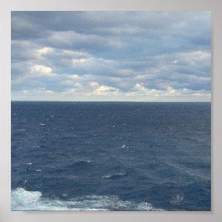Impressão nebuloso dos mares