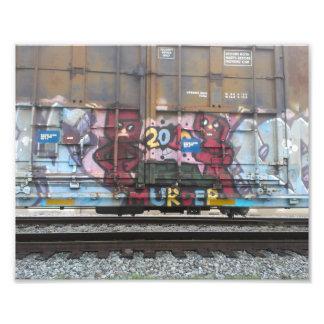 Impressão Nova Orleães da foto dos grafites do
