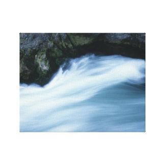 Impressão ondulado das canvas do rio