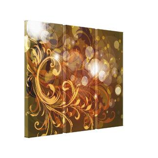 Impressão outonal 2 das canvas dos redemoinhos e d impressão de canvas esticadas