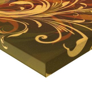 Impressão outonal das canvas dos redemoinhos e das impressão de canvas envolvida