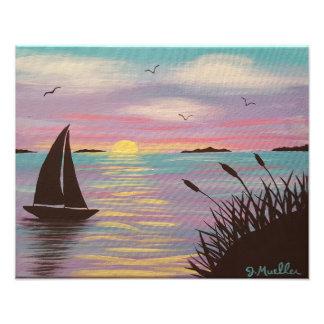 Impressão Pastel da foto do veleiro