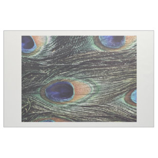 Impressão penteado do pavão do tecido do algodão