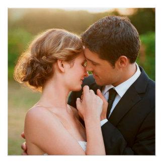 Impressão personalizado da arte do casamento foto poster perfeito