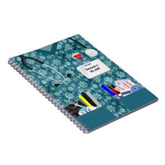 Impressão personalizado da flor do caderno da