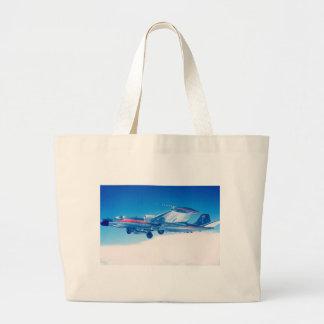 Impressão plano clássico da fotografia da aviação sacola tote jumbo