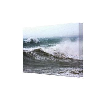 Impressão poderoso das canvas das ondas de oceano