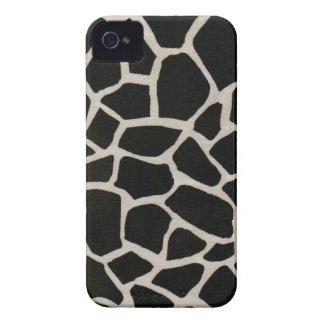 Impressão preto & branco do girafa capas para iPhone 4 Case-Mate