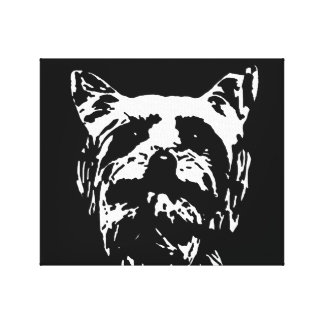 Impressão preto/branco do yorkshire terrier das