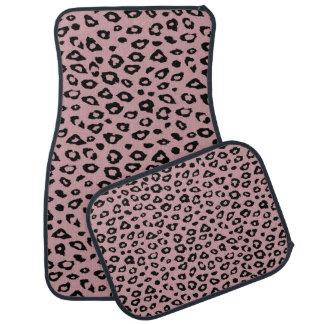 Impressão preto cor-de-rosa do leopardo tapete automotivo