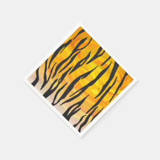 Impressão preto e alaranjado do tigre guardanapo de papel