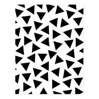Impressão preto e branco corajoso do triângulo cartão postal