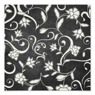 Impressão preto e branco da flor impressão fotográficas