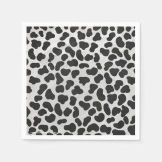 Impressão preto e branco Dalmatian Guardanapo De Papel