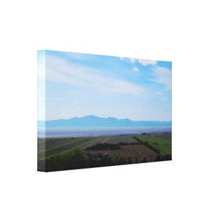 Impressão profundo das canvas da paisagem