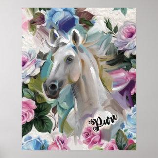 """Impressão """"puro"""" da arte do cavalo"""