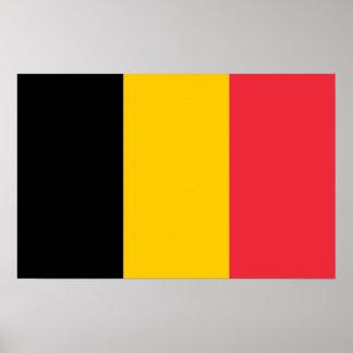 Impressão quadro com a bandeira de Bélgica