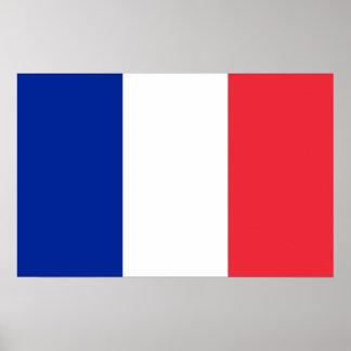 Impressão quadro com a bandeira de France