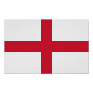 Impressão quadro com a bandeira de Inglaterra