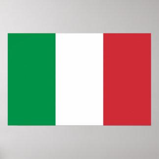 Impressão quadro com a bandeira de Italia