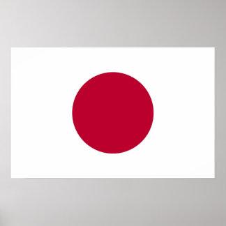 Impressão quadro com a bandeira de Japão