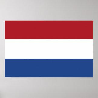 Impressão quadro com a bandeira de Países Baixos