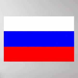 Impressão quadro com a bandeira de Rússia