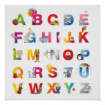 impressão quadro do alfabeto
