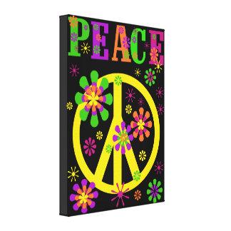 Impressão quente das canvas da paz das cores