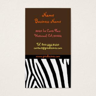 Impressão retro da zebra dos cartões de visitas