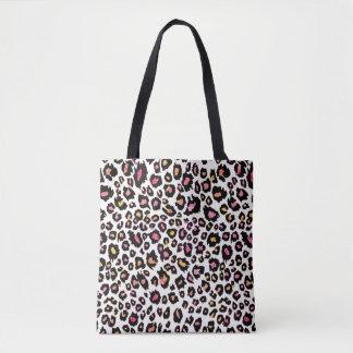 Impressão/rosa do leopardo de PixDezines+Bckground Bolsa Tote