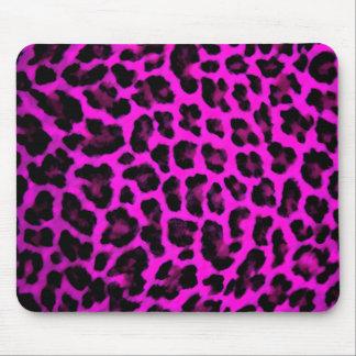 Impressão roxo do leopardo mousepad