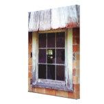 Impressão rústico da arte da janela do celeiro em  impressão de canvas esticadas
