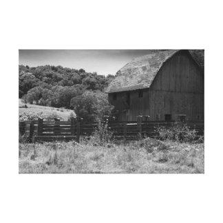 Impressão rústico preto e branco das canvas do cel impressão de canvas esticada