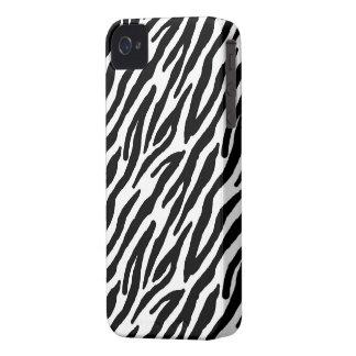 Impressão Sassy da zebra Capas Para iPhone 4 Case-Mate