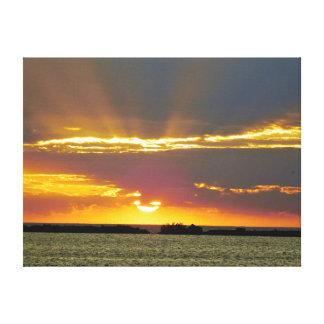 Impressão sereno das canvas do por do sol
