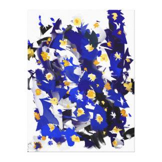 """Impressão sobre tela, Grande modelo, """"Blue Flowers"""