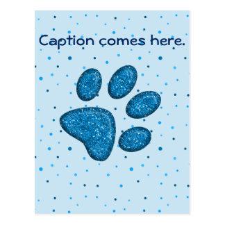 impressão sparkling da pata do gato - céu cartão postal