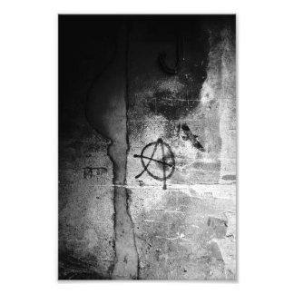 Impressão sujo da foto da anarquia da parede da impressão de foto
