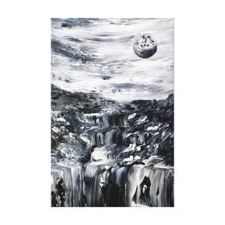 Impressão surreal preto e branco das canvas de bel