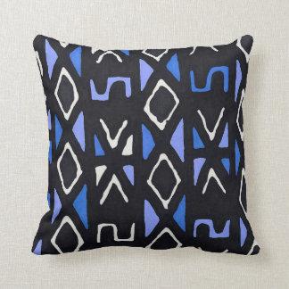 Impressão tribal de Mudcloth do africano azul Almofada