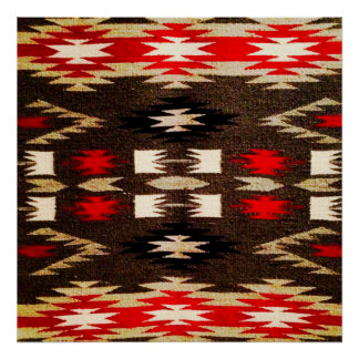 Impressão tribal do design do Navajo do nativo ame