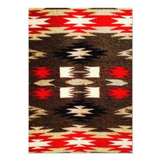 Impressão tribal do design do Navajo do nativo Convite 12.7 X 17.78cm